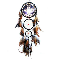Wolf Style Handmade Dream Catcher Feathers Wall Hanging Decoration Ornament WT7n