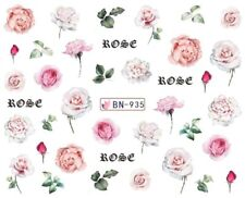 Nail Art Decals Transfers Stickers Pale Pink Roses (BN935)