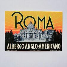 """Anglo Americano Roma Italy Retro 2.5""""x3.5"""" Rome travel Luggage Label Sticker"""