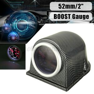 "52mm 2"" Turbo Boost Gauge Meter Pressure Digital LED Light Smoke Tint 30 PSI 12V"
