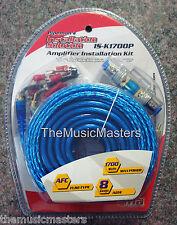 8 Gauge 1700 Watt Amplifier Installation Wiring Kit Car Power Amp Wire & Cables
