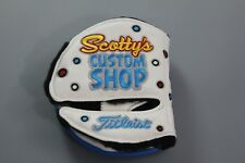 SCOTTY CAMERON CUSTOM PUTTER COVER - JACKPOT JOHNNY - MID ROUND WHITE - LH