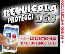 Pellicola protezione LCD display per LG  P710 OPTIMUS L7 II + PANNO ANTISTATICO