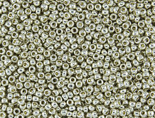 15/0 Japanese Toho Seed Beads PermaFinish Silver Galvanized #PF558