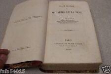 TRAITE PRATIQUE DES MALADIES DE LA PEAU DEVERGIE 1854 PARIS LIBRAIRIE MASSON