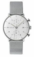 AUTHORIZED DEALER Junghans 027/4003.44 Max Bill Chronoscope Matte-Silver Watch