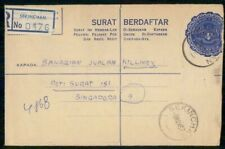 MayfairStamps Malaysia 1967 Sekinchan to Singapore Registered Letter Stationery