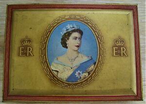 QUEEN ELIZABETH II Coronation Gold Flake Cigarette Tin 1953