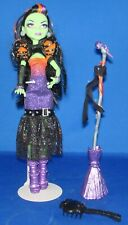 Monster High Casta Fierce doll with mic and broom EUC #311