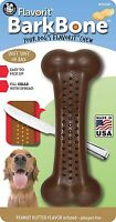 PetQwerks BarkBone Flavorit Chew Toy- Peanut Butter (Made in the USA)