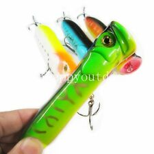 1pcs Saltwater Popper Big Game Topwater Lure Plastic Popping Fishing Lures new