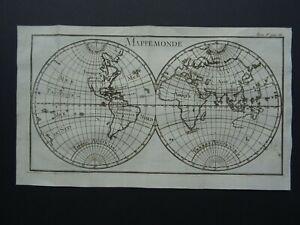 1739 L'Abbe PLUCHE  Atlas World map - Mappemonde