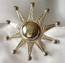 Scarf Ring Clip Holder ~ Sunburst / Celestial ~ Silver Plated