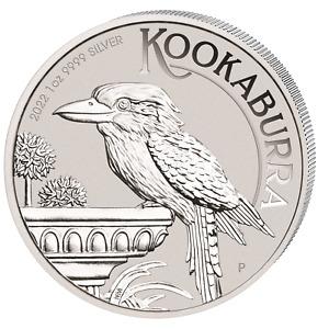 Kookaburra 2022 Silber 1 OZ Unze Silver Argent Australien Australian Australie