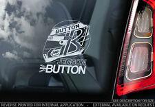 Jenson Button - Car Window Sticker - Formula 1 F1 Decal Sign Art Helmet - V02