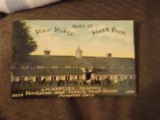 "Salem, IA, Early 1900s Ad PostCard, ""Barn At Pine Ridge Stock Farm"""