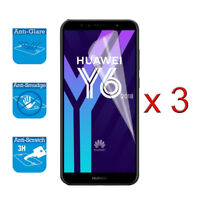 For Huawei Y6 2018 - Screen Protector Shield Cover Guard LCD Film Foil x 3