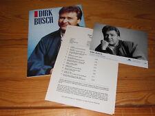 Dirk Busch-typiquement/RARE PRESSE-PROMO-Classeur 1992 incl. Photo & Info-Facts