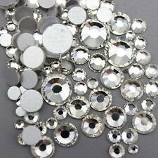 Mixed Sizes Clear Glass Rhinestone No-Hotfix for Nails Decoration AVANT CRYSTAL