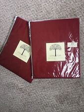 JCP Linden Street Thermal Rod-Pocket/Back-Tab Panels (2) Rustic Red 40X45.  MHL1
