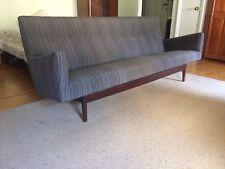 Beautiful Jens Risom Mid Century Danish Modern Walnut Frame Sofa Gently used