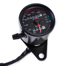 Universal Mini Tacho km/h Speedometer Kontrollleuchten für Harley Honda Kawasaki