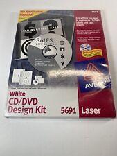 Avery 5691 White Cd Dvd Design Kit Labels Cddvd Laser Jewel Case Inserts