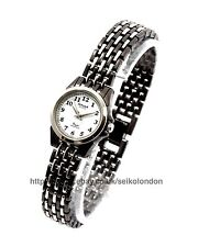 Omax Ladies Watch, Black & Silver 2 Tone Finish, Seiko (Japan) Movt. RRP £49.99