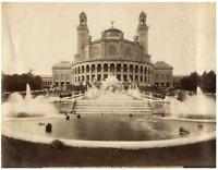 L.P., France, Paris, Palais de Trocadéro  vintage albumen print,  Tirage album