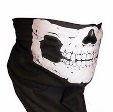 SET OF 4 100% Cotton Skull Face Bandanna Skeleton Ski Biker Paintball Mask Scarf