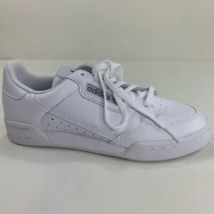 Adidas Boys Continental 80 Sneakers White EE8383 Lace Up Low Top Shoes 5 New
