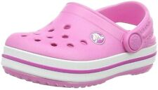 Genuine Crocs Kids Party Pink Crocband Clog Shoes - Infant & Junior Official NEW