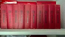 Lot 10 Guides Rouge Michelin FRANCE de 1980 à 1989 - en état d'usage