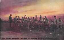 POSTCARD  MILITARY  WWI    Digging  trenches  at  Night