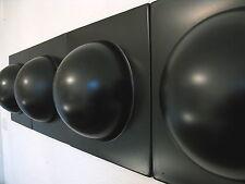 4 Bubble Elemente 70er 60er Style POP ART Wand Bilder Bild schwarz NR 2