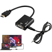 HDMI Male to VGA Female Converter Adapter with 3.5mm Audio for PC PS3 PS4 Mac TV