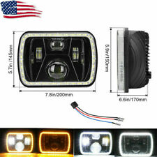 210W 5x7'' 7x6'' LED Headlight Hi-Lo Beam Halo DRL For Jeep Cherokee GMC Savana