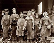 1912 OYSTER SHUCKER CHILDREN 8X10 PHOTO LEWIS HINE