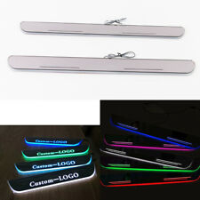 Customized LED Animation Door Sill Scuff Plate Courtesy Light For Cadillac All
