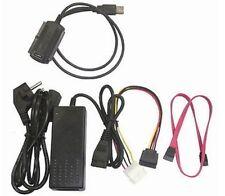 """USB Adapter auf IDE/S-ATA für 6,4cm u. 8,9cm (2,5"""" und 3,5"""") Festplatten #22100a"""
