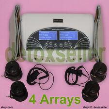 Dual Detox Detoxification Leg Foot Bath Spa Aqua Ionic Cleanse Machine + 4 Array