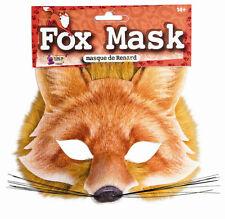 3D Fox Cloth Half Face Mask Gingerbread Man Boy Halloween Dog Wolf Realistic