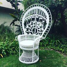 Rattan Peacock Chair - White (2)