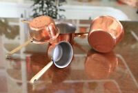 Copper Plated Vintage Measuring Cups Ounce Measures