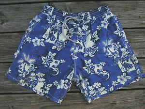 Vilebrequin Badeshorts Herren Gr L Muster blau-weiß