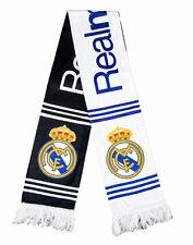 Real Madrid Football Club Soccer Scarf Neckerchief Fan Souvenir Gift Black White
