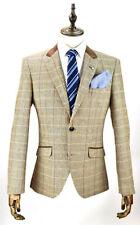Hip Length Blazers Tweed Regular Coats & Jackets for Men