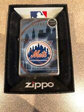 NEW YORK NY METS  ZIPPO 2000 BRUSHED CHROME NEW NOS
