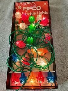 Vintage Christmas Fairy Lights. 20 Pifco Sparkle Lights. Working, With Box.