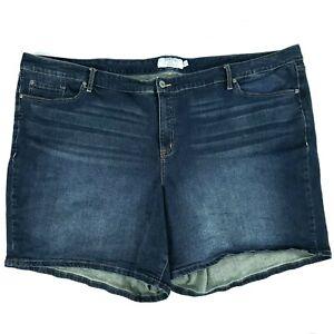 Torrid Womens Plus 30 First At Fit Blue Jean Denim Shorts 5 Pocket